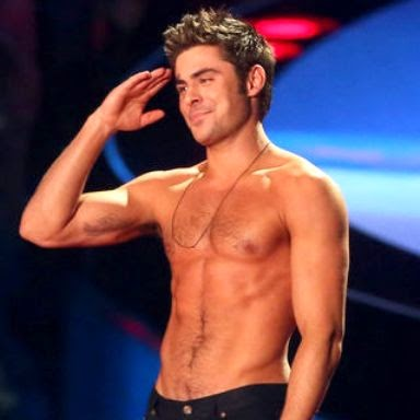 zac efron shirtless mtv