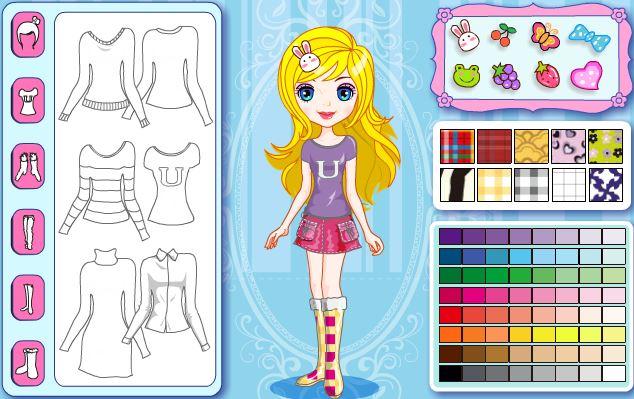 Cindy's Polychrome Habiliment Dress Up online para colorir