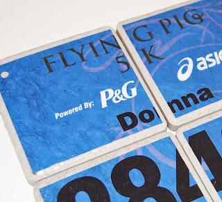 etsy blog, milestones, runner bib coasters, runner bumper sticker, etsy.com