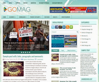 GoMag Blogger Template
