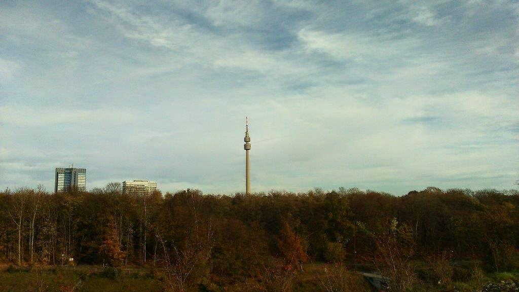Phönixwest Florianturm Dortmund Herbst