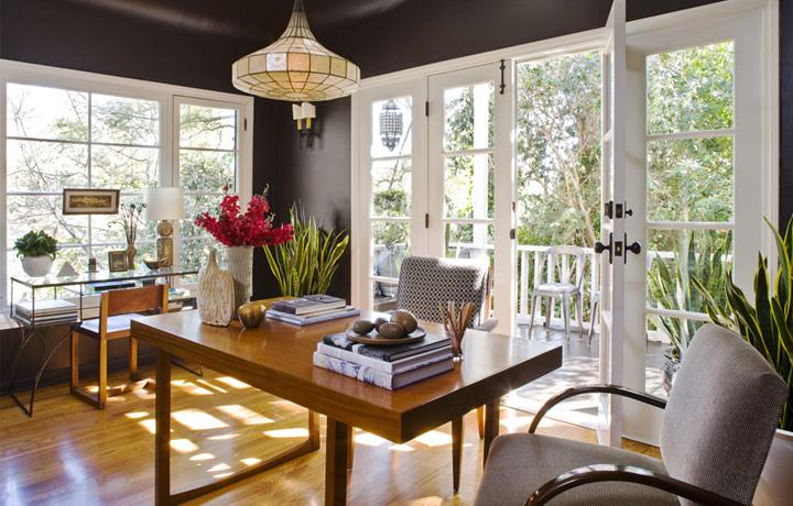 Interior designer jeff andrews khloe kardashian bedroom for Dining room office ideas