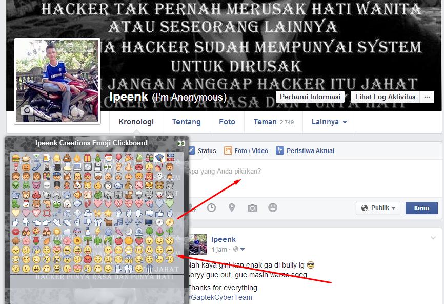 Facebook Emoji Clickboard