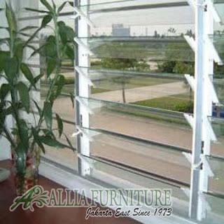 Jalousie window Jendela rumah model jalusi sekat