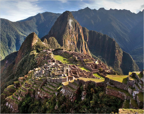 Machu Picchu, an ancient Inca settlement in Peru that is now one of the world's top tourist destinations