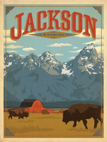 Flyer goodness classic american travel posters by the for American classic usa