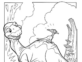 Animated Dinosaurs Coloring Pages
