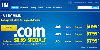cara order domain di 1and1.com