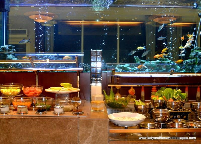 dinner buffet at Oceanic Hotel Khorfakkan