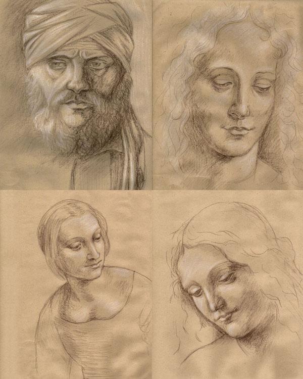 Giovanni bellini, Leonardo, рисунок, пастель