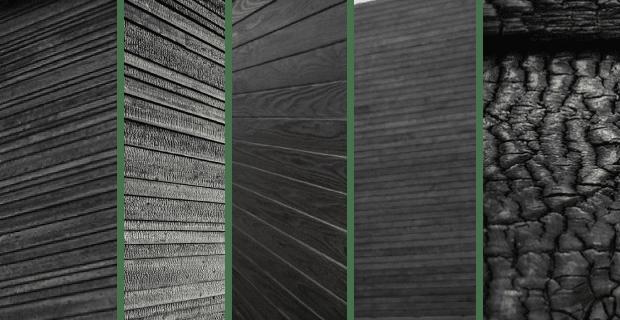 madera carbonizada