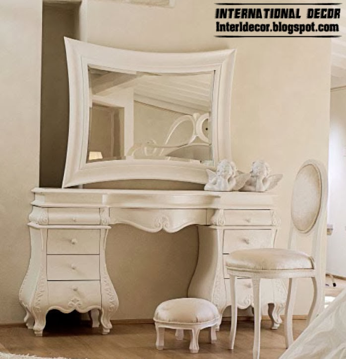 unique white dressing table for luxury interior bedroom