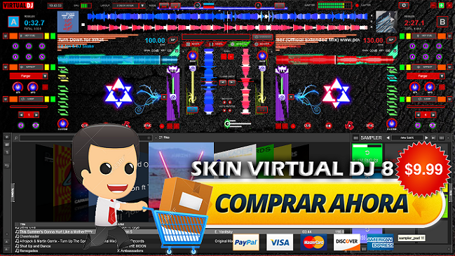 SKIN VIRTUAL DJ 8 2016