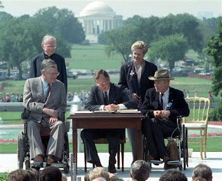 Signing ceremony for the Americans with Disabilities Act of 1990