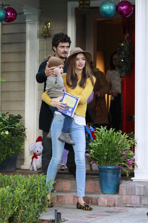 Miranda Kerr Amp Family Exit A Christmas Party In L A The