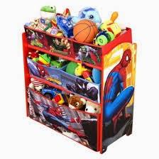 Elmo Spiderman Cars TOY ORGANIZER W BOOKSHELF BRANDNEW Sold