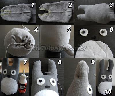 Como fazer um Totoro de pelúcia