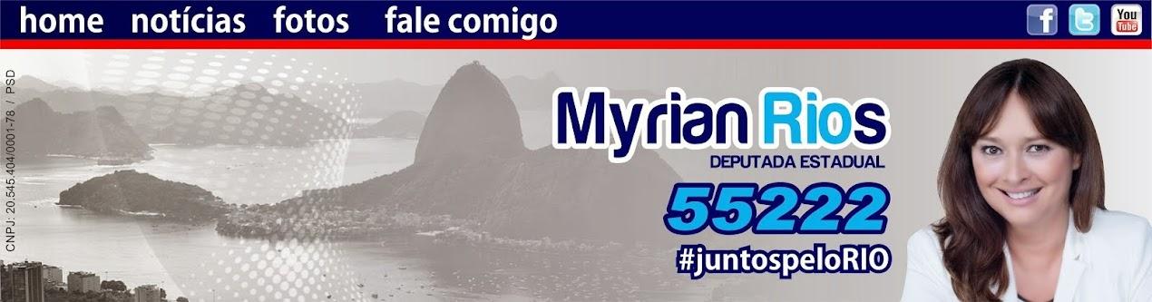 """DEPUTADA ESTADUAL PELO RIO DE JANEIRO MYRIAN RIOS"""""""