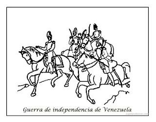 Aprendamos con las TIC Dibujos para colorear de la Independencia