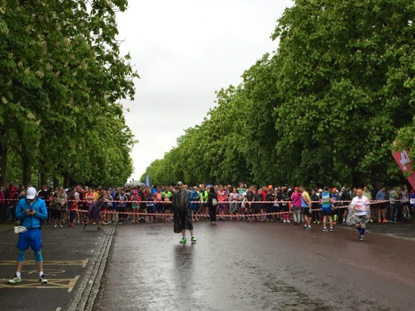 2015 London Marathon red start corral