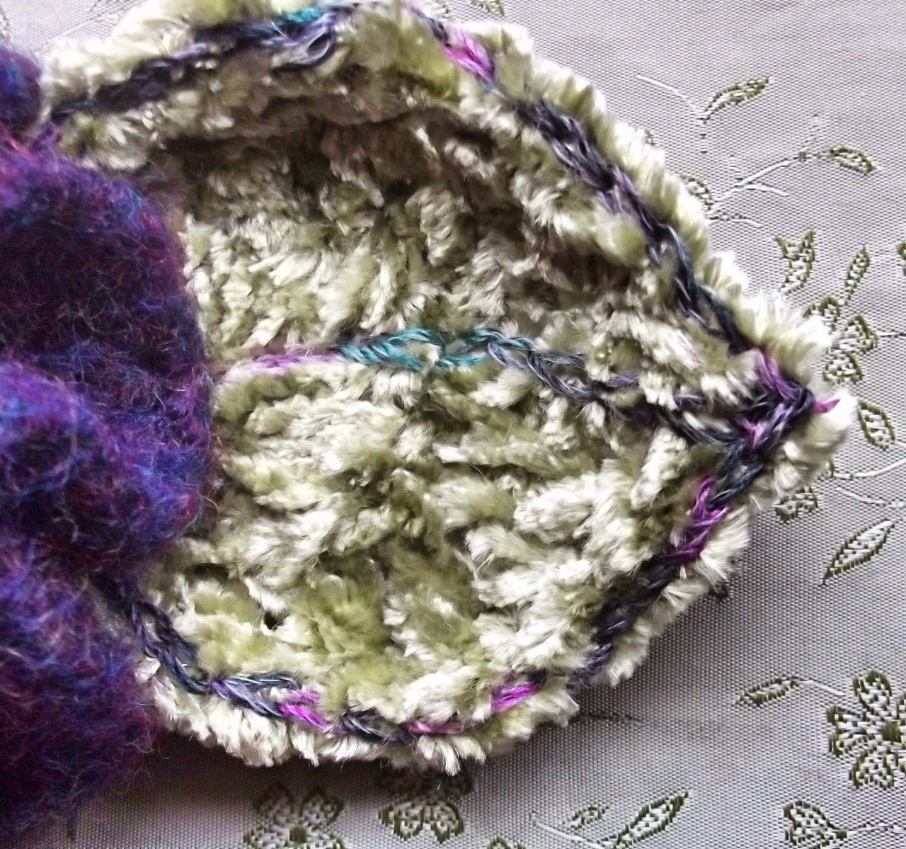 gossamer tangles the cozy winter garden crocheted felted flowers