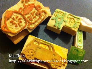 Ida Chan's hand carved rubber stamps
