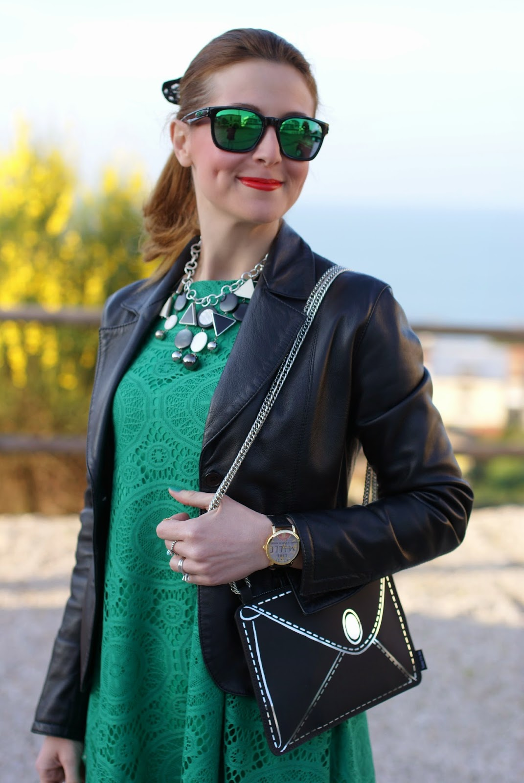 Vitti Ferria Contin jewelry, Millelire watch, Sheinside green dress, Fashion and Cookies, fashion blogger