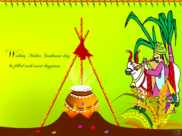Wishing Makar Sankranti Day be Filled with Sweet Happiness