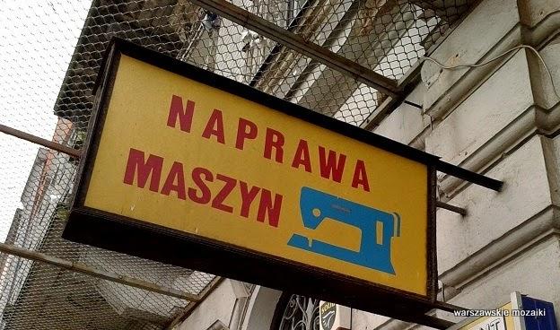 Warszawa szyld Praga maszyny do szycia tabliczka