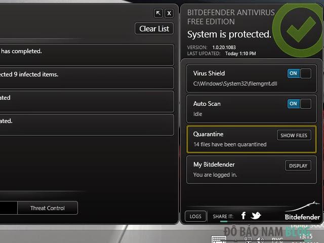 Phần mềm diệt virus miễn phí BitDefender Antivirus 2014