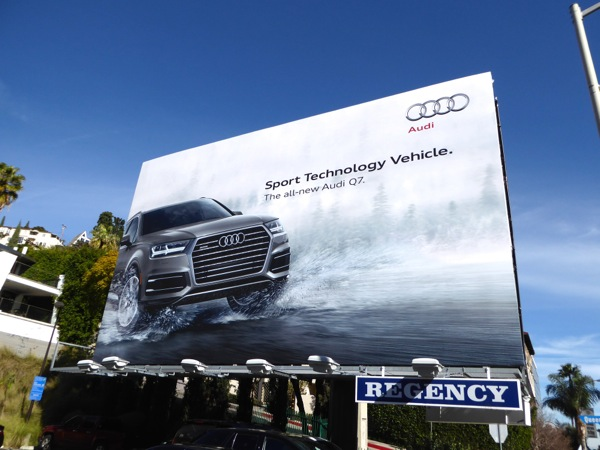 Audi Q7 Sport Technology Vehicle billboard