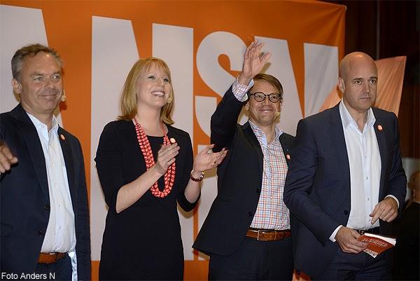 Alliansen, Reinfeldt, Hägglund, Björklund, Lööf