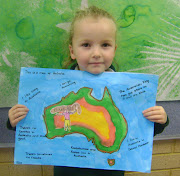 . picture of ourselves, cut it out and glued it onto the map of Australia.