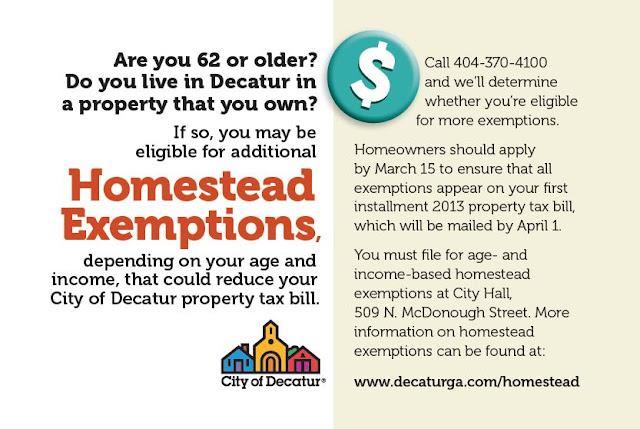 Decatur Tax Blog: City promotes homestead exemptions