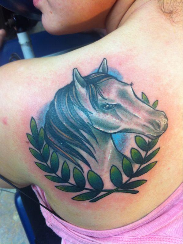 horse tattoo,head horse tattoo,feminine tattoo,woman tattoo,sexy tattoo