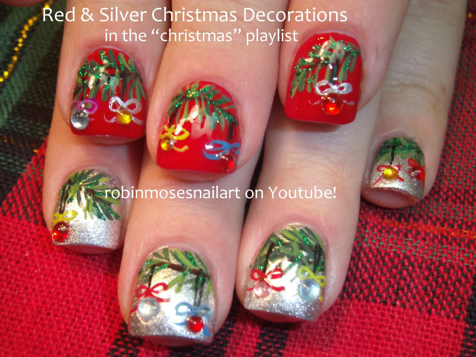 Robin moses nail art nail art sexy christmas nails christmas christmas wreath nail art prinsesfo Image collections