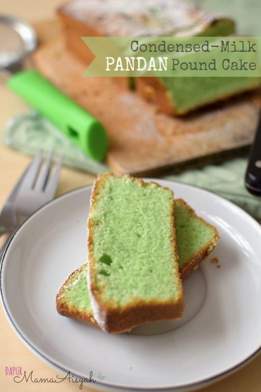 Condensed-Milk Pandan Pound Cake/ Butter Cake Pandan dengan SKM