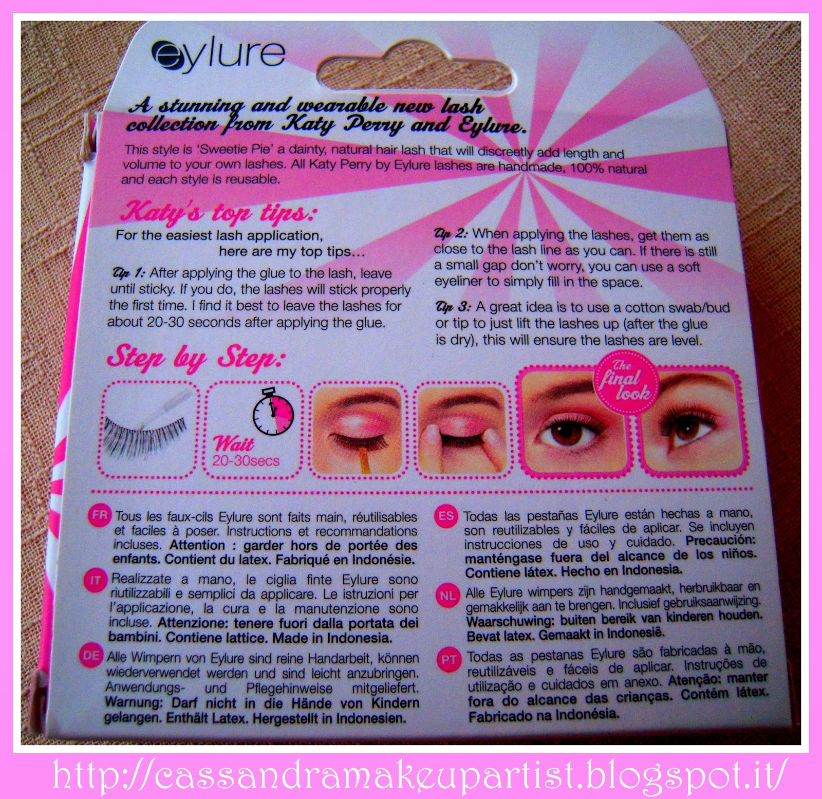 EYLURE - Katy Perry Lashes - SWEETIE PIE -false lashes - ciglia finte - colla - prezzo - price - recensione - review - nude - naturali - glue - ciglia a nastro - tutorial