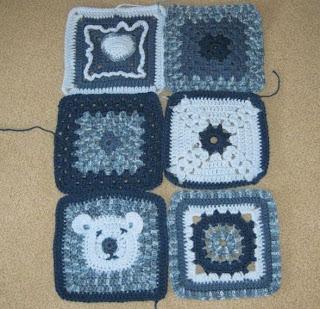 blue granny squares