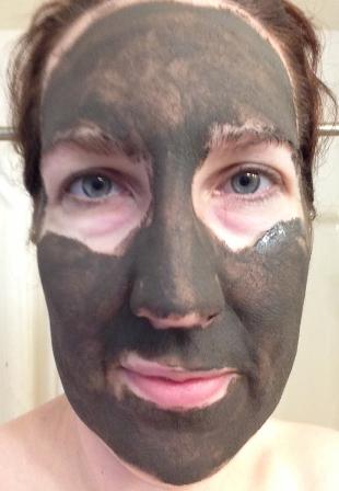 Adovia Dead Sea Mud Mask on my face