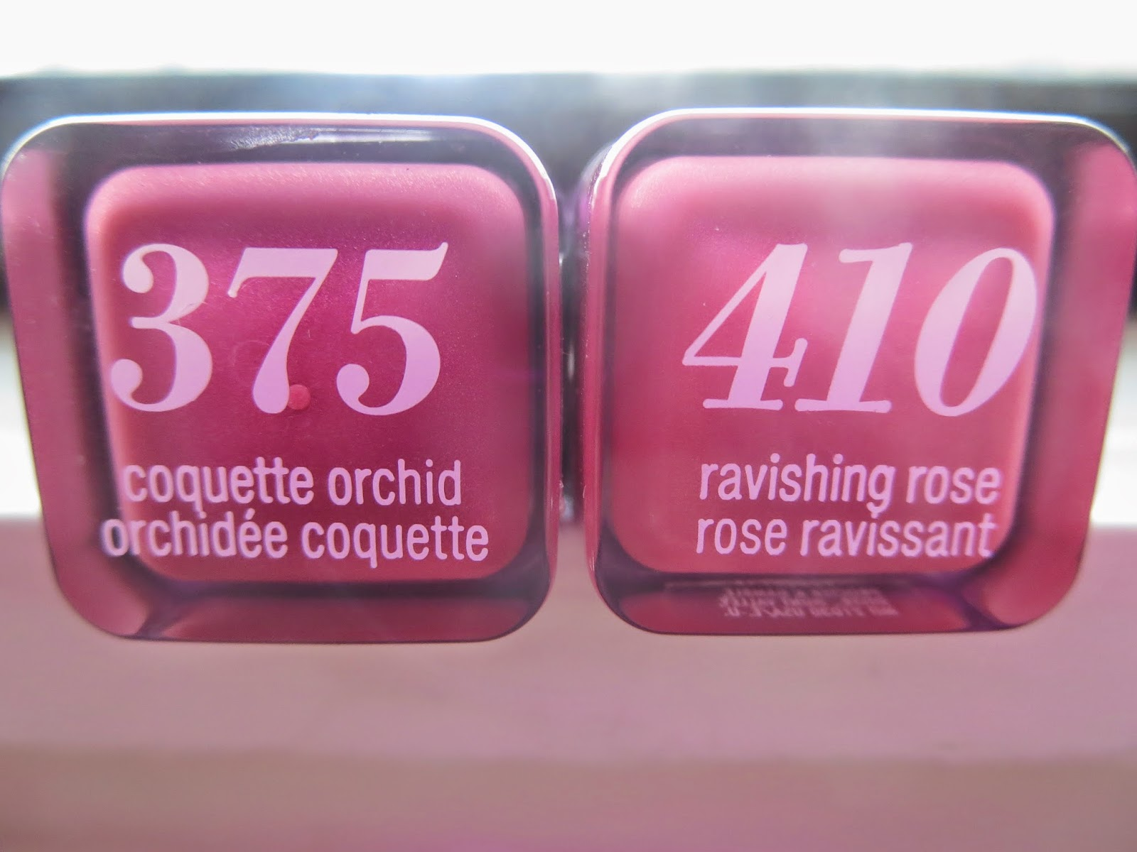 a picture of  Covergirl Colorlicious Lipsticks in Coquette Orchid and Ravishing Rose