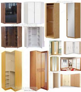 Model & desain lemari pakaian sudut single