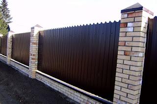 Забор из фигурного профлиста (резная кромка). Фото 1