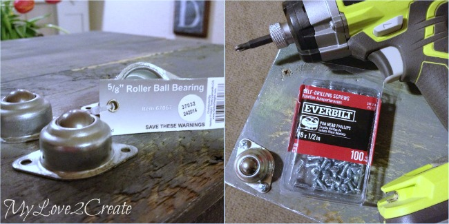adding roller ball bearings for easier sliding