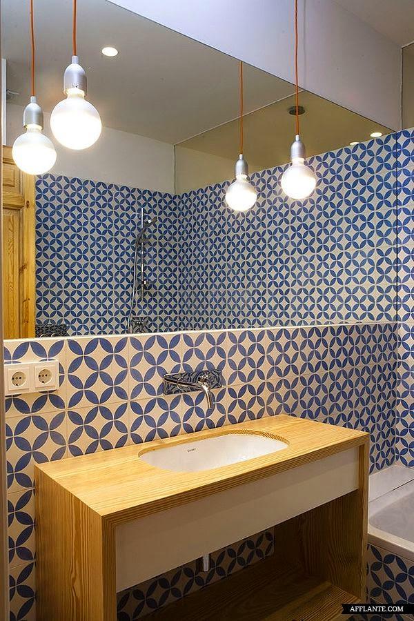 Iluminacion Baño Vintage:También unos ojos de buey son una buena solución para iluminar las