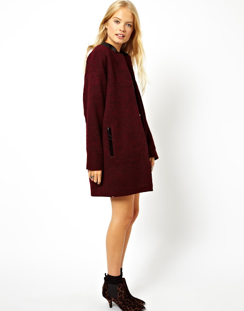 oxblood coat