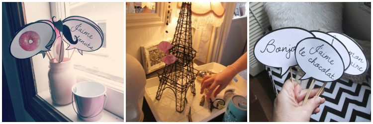 Paris Party props for photo booth