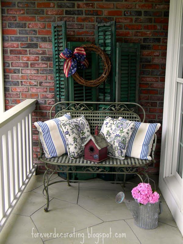 forever decorating a load of antique shutters. Black Bedroom Furniture Sets. Home Design Ideas