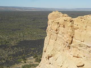 sand bluffs at el malpais national monument