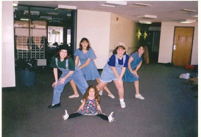 Throwback Thursday, #throwbackthursday, #tbt, overalls, denim overalls, fashion, 1980s, 1990s, community theater, Beachwood Community Theater, Pinocchio